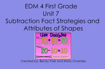 Everyday Math 4, Common Core, Unit 7 First Grade Interactive Lesson