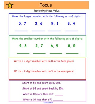 Everyday Math 4, Common Core, Unit 9 First Grade Interactive Lessons