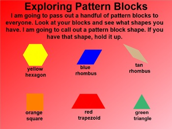 Everyday Math 4 EDM4 Common Core Edition 1.2 Introduction to Pattern Blocks
