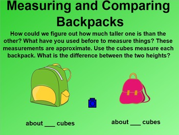 Everyday Math 4 EDM4 Common Core Edition 9.4 Backpack Math Height Weight & Area