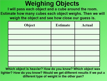 Everyday Math 4 EDM4 Common Core Edition 9.8 Uniform Weights on a Pan Balance