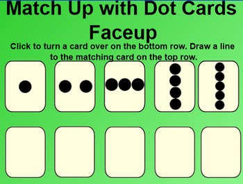 Everyday Math 4 EDM4 Common Core Edition Kindergarten 2.1 Match Up Dot Cards