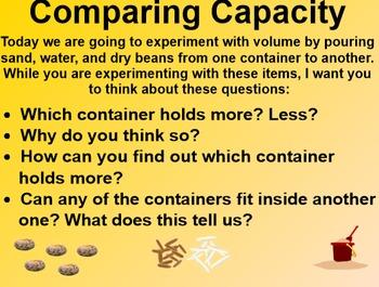 Everyday Math 4 EDM4 Common Core Edition Kindergarten 4.10 Exploring Capacity