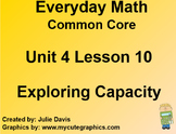 Everyday Math 4 EDM4 Common Core Edition Kindergarten 4.10 Exploring Capacity
