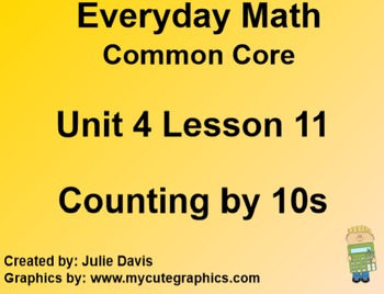 Everyday Math 4 EDM4 Common Core Edition Kindergarten 4.11 Counting by 10s