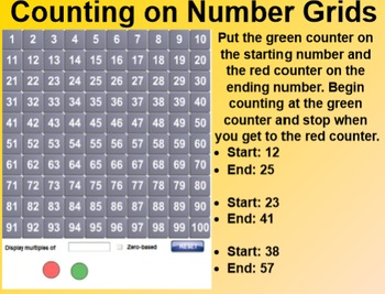 Everyday Math 4 EDM4 Common Core Edition Kindergarten 4.13 Number Grid Explore