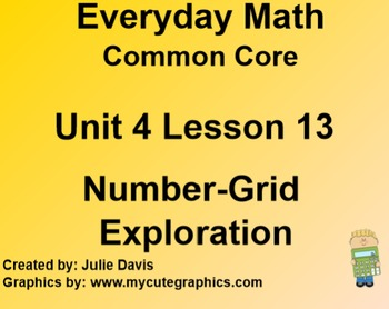 Everyday Math 4 EDM4 Common Core Edition Kindergarten 4.13