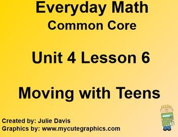 Everyday Math 4 EDM4 Common Core Edition Kindergarten 4.6