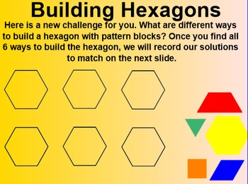Everyday Math 4 EDM4 Common Core Edition Kindergarten 4.7 Building Hexagons