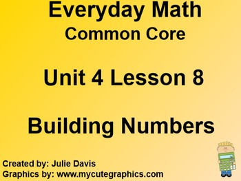 Everyday Math 4 EDM4 Common Core Edition Kindergarten 4.8 Building Numbers
