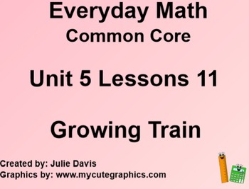 Everyday Math 4 EDM4 Common Core Edition Kindergarten 5.11 Growing Train
