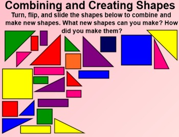 Everyday Math 4 EDM4 Common Core Edition Kindergarten 5.13 Shape Combinations