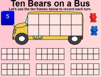 Everyday Math 4 EDM4 Common Core Edition Kindergarten 5.3 Ten Bears on a Bus