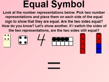 Everyday Math 4 EDM4 Common Core Edition Kindergarten 5.9 The Equal Symbol