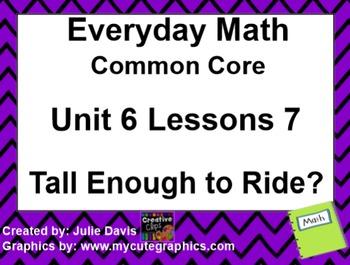 Everyday Math 4 EDM4 Common Core Edition Kindergarten 6.7