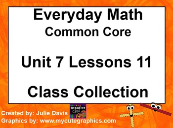 Everyday Math 4 EDM4 Common Core Edition Kindergarten 7.11 Class Collection