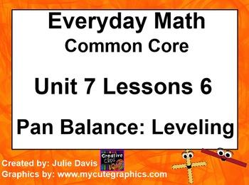 Everyday Math 4 EDM4 Common Core Edition Kindergarten 7.6 Pan Balance: Leveling