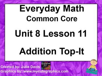 Everyday Math 4 EDM4 Common Core Edition Kindergarten 8.11 Addition Top It