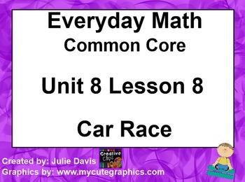Everyday Math 4 EDM4 Common Core Edition Kindergarten 8.8 Car Race