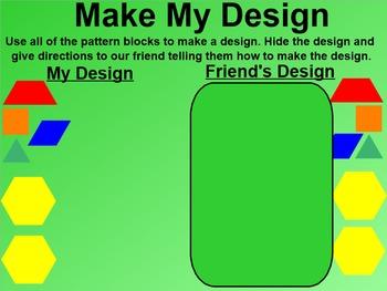 Everyday Math 4 EDM4 Common Core Edition Kindergarten 9.1 Make My Design