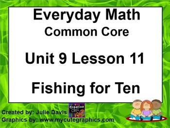 Everyday Math 4 EDM4 Common Core Edition Kindergarten 9.11 Fishing for Ten