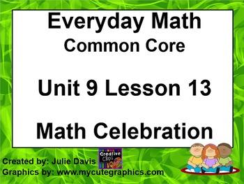 Everyday Math 4 EDM4 Common Core Edition Kindergarten 9.13 Math Celebration