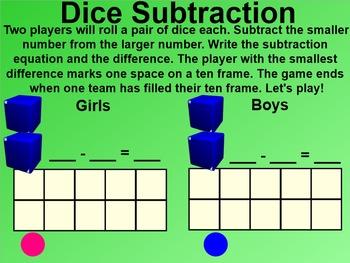 Everyday Math 4 EDM4 Common Core Edition Kindergarten 9.2 Subtraction Top-It