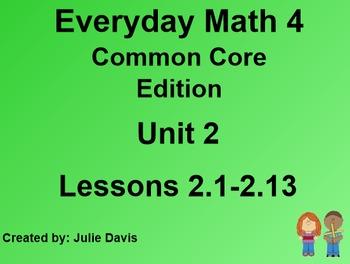 Everyday Math 4 EDM4 Common Core Edition Kindergarten Unit 2 Bundle