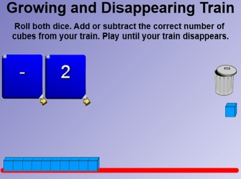 Everyday Math 4 EDM4 Common Core Kindergarten 6.12 Growing & Disappearing Train