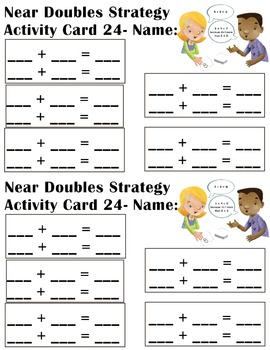 Everyday Math 4 EDM4 Grade 2  Lesson 2-5 Near Doubles Strategy Activity Card 24