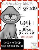 Everyday Math 4 (EM4) - Unit 1 ACI Booklet for First Grade!