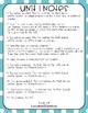 Everyday Math 4 (EM4) - Unit 1 ACI Booklet for Second Grade!