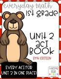 Everyday Math 4 (EM4) - Unit 2 ACI Booklet for First Grade!
