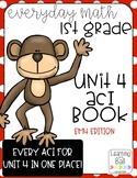 Everyday Math 4 (EM4) - Unit 4 ACI Booklet for First Grade!
