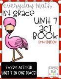 Everyday Math 4 (EM4) - Unit 7 ACI Booklet for First Grade!