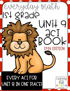 Everyday Math 4 (EM4) - Unit 9 ACI Booklet for First Grade!