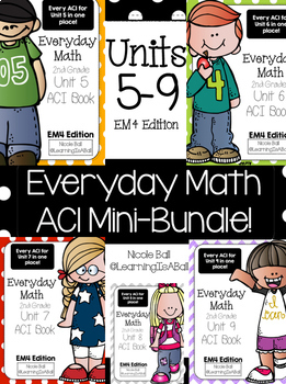 Everyday Math 4 (EM4) - Units 5-9 ACI Mini-BUNDLE for Second Grade!