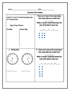 Everyday Math 4 End-of-Year Assessment Review