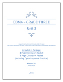 Everyday Math 4 - Grade 3 - Unit 3 - Review Packet