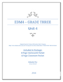 Everyday Math 4 - Grade 3 - Unit 4 - Review Packet