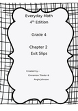 Everyday Math 4 Grade 4 Ch 2 Standards Based Exit Slips