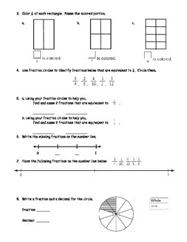 Everyday Math 4 Grade 4 Ch 3 Pretest, Quiz, or Study Guide