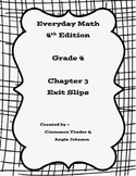 Everyday Math 4 Grade 4 Ch 3 Standards Based Exit Slips