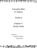 Everyday Math 4 Grade 4 Ch 4 Study Guide