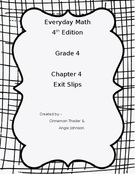 Everyday Math 4, Grade 4, Chapter 4 BUNDLE