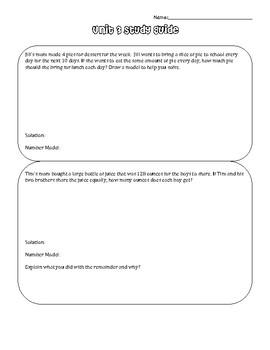 Everyday Math 4 Grade 5 Units 1-8 Study Guide BUNDLE