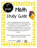 Everyday Math Grade 5 Units 1-8 Study Guide BUNDLE