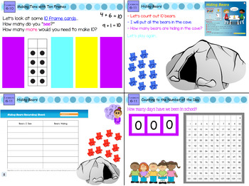 Everyday Math 4 Kindergarten Sections 6.8-6.13