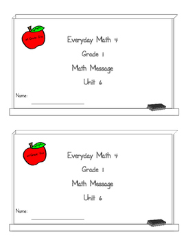 Everyday Math 4 Math Message Units 6 and 7