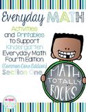 Everyday Math 4 Section One {Kindergarten} EDM4 Common Cor